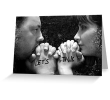 Let's Talk Greeting Card