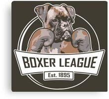 Boxer League Canvas Print