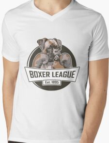 Boxer League Mens V-Neck T-Shirt