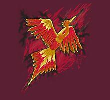 Flames of the Phoenix - digital design Unisex T-Shirt