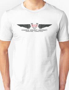 Chance Vought Aircraft Logo (Black) Unisex T-Shirt