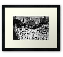 Old stone wall Framed Print
