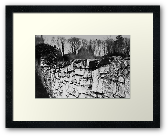 Old stone wall by Agnes McGuinness