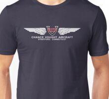 Chance Vought Aircraft Logo (White)  Unisex T-Shirt