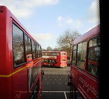 London Buses by 4fingersplusone