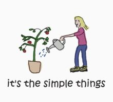 Female Gardener - Simple Things by Jon Winston