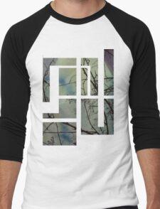 Abstract Tree Silhouette Men's Baseball ¾ T-Shirt