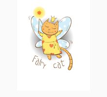 Fairy cat. Womens Fitted T-Shirt
