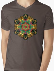 Fractal Mandala Mens V-Neck T-Shirt