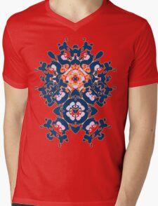 Geometric Gardens Mens V-Neck T-Shirt