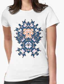 Geometric Gardens Womens Fitted T-Shirt