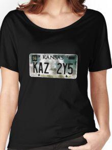 Supernatural Impala Kansas Plate Women's Relaxed Fit T-Shirt