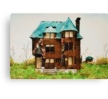Abandonded House in Detroit Canvas Print