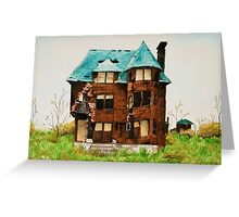 Abandonded House in Detroit Greeting Card