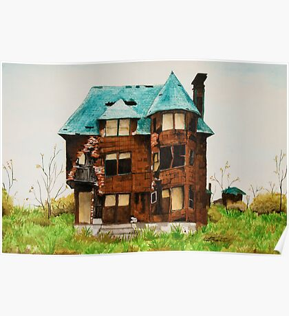 Abandonded House in Detroit Poster