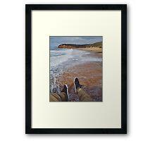 Hanging Over Bells Beach Framed Print