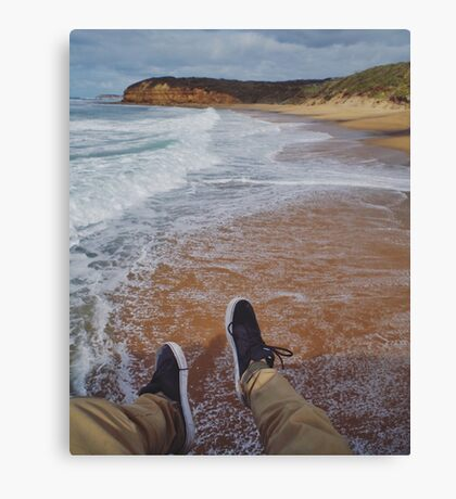 Hanging Over Bells Beach Canvas Print