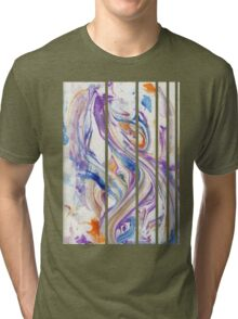 Abstract Swirls and Whirls (Variation) Tri-blend T-Shirt