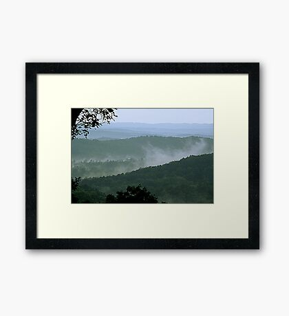 Low Clouds in the Mountains Framed Print