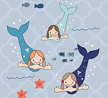 Three Mermaids by KathrinLegg