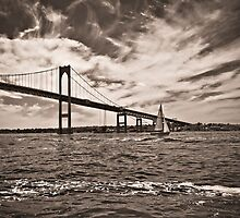 Newport Bridge by Eric Lindquist