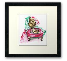 Glitter Sandals Framed Print
