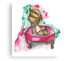 Glitter Sandals Canvas Print