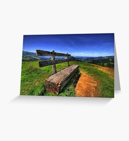Bregenzer Wald Panorama Summer Greeting Card