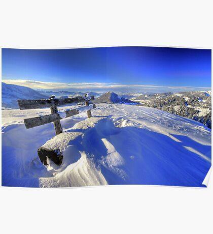 Bregenzer Wald Panorama Winter Poster