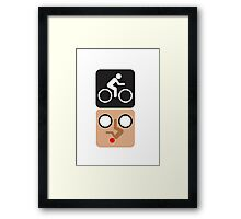 Bicycle Face! Framed Print