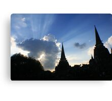 Shining sky Canvas Print
