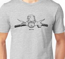 Vespa SS 90 handlebars and speedo black Unisex T-Shirt