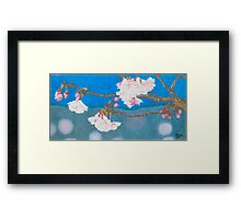 spring blossoms colored pencils drawing Framed Print