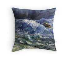 The power wave Throw Pillow