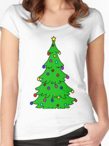 Christmas tree Women's Fitted Scoop T-Shirt
