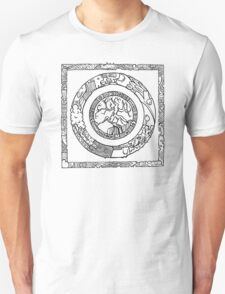 Wheel and Square Design Unisex T-Shirt