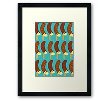 Chocolate Bananas with Nuts and Sprinkles Framed Print