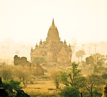 Temples on Bagan Plains, Burma by ingojez