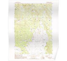 USGS Topo Map Oregon Dry Prairie 279711 1988 24000 Poster