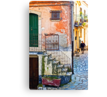 A walk Canvas Print