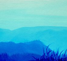 Blue Hills by Bamalam Art and Photography