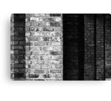 Pillar Brick Shadow Canvas Print