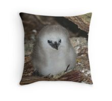 Silver Bosun Chick Throw Pillow
