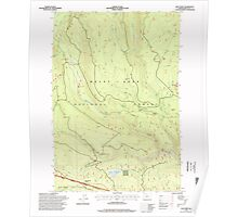 USGS Topo Map Oregon Post Point 281139 1996 24000 Poster