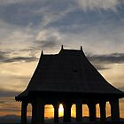 Sunset through Gazebo - North Carolina by Glenn Cecero