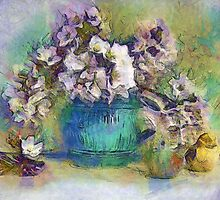 Spring Bouquet in a Vintage Vase by suzannem73