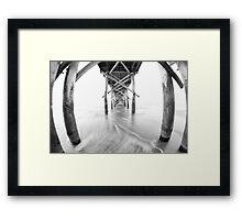 Pier – black and white Framed Print