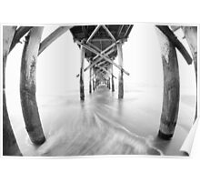 Pier – black and white Poster