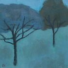 Two Trees at Twilight by Jude Allman