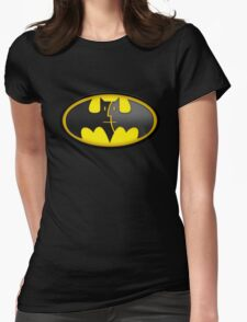 Bat Mac – The Caped Computer Womens Fitted T-Shirt